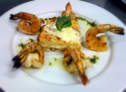 Shrimp and seafood with a touch of Italy.